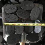 """Prodej hnědouhelné brikety 4"""" uhelný sklad Štíty - rozměr"""